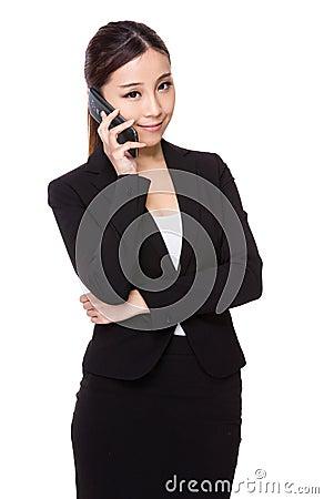 Free Businesswoman Talk To Phone Stock Photos - 47663243