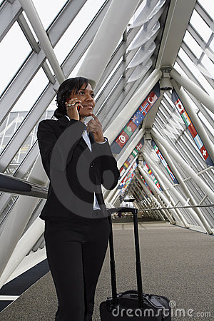 Free Businesswoman Talking On Her Cellphone Stock Image - 5184241