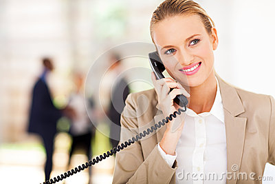 Businesswoman talking phone