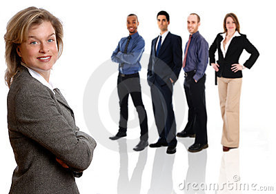 Businesswoman and Team