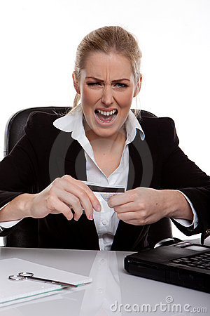 Businesswoman Throwing A Tantrum