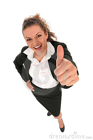 Businesswoman With Thumb Up Royalty Free Stock Photography - Image: 4583307