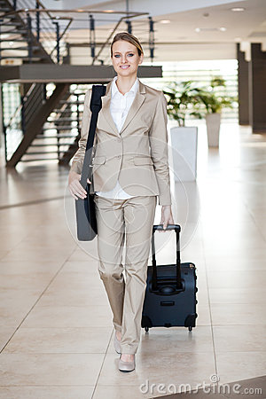 Businesswoman traveller