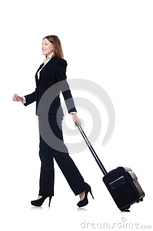 Businesswoman travelling