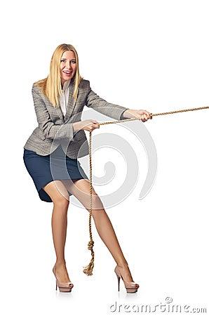 Businesswoman in tug