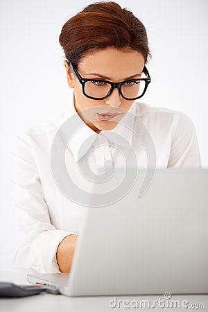 Businesswoman unsure of what she is doing