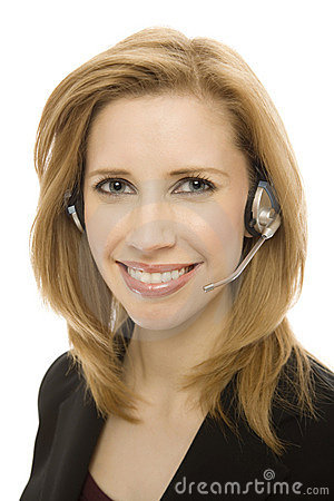 Free Businesswoman Uses Headset Stock Photography - 2386052