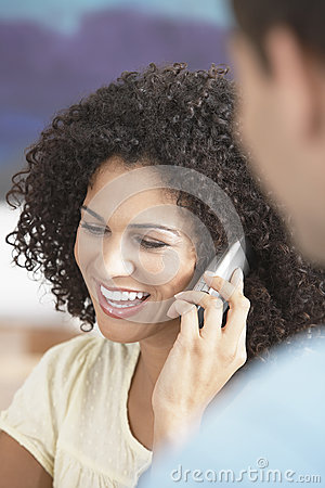Free Businesswoman Using Cellphone In Meeting Stock Photography - 33895202