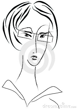 Businesswoman vector portrait