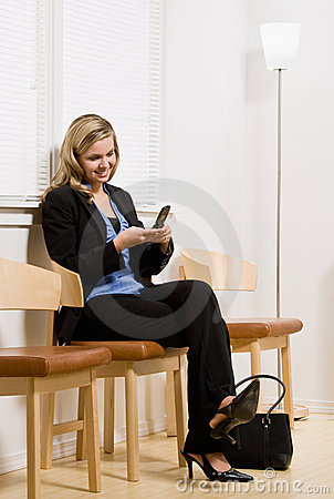 Businesswoman waiting for appointment