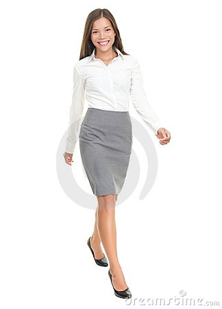Free Businesswoman Walking On White Background Royalty Free Stock Photos - 17297838