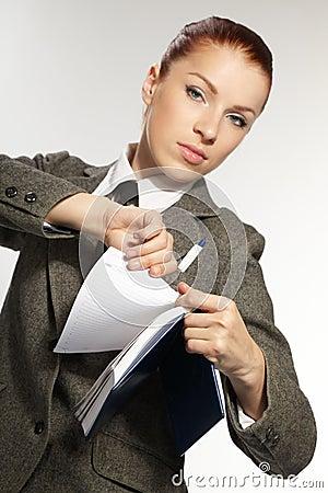 Businesswoman wih personal organizer