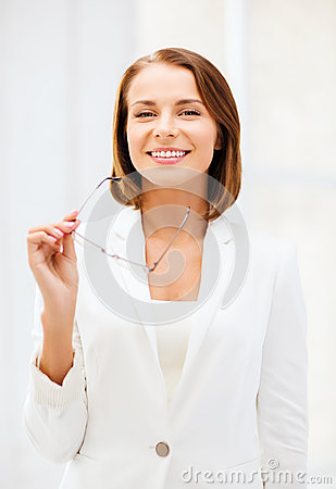 Free Businesswoman With Eyeglasses Royalty Free Stock Photography - 33876457