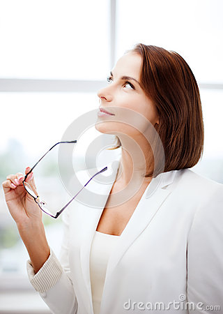 Free Businesswoman With Eyeglasses Royalty Free Stock Photo - 34103365