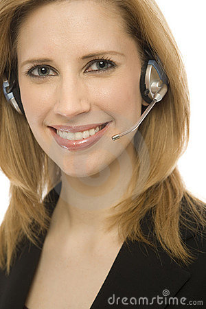 Free Businesswoman With Headset Stock Photo - 2386030