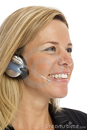 Free Businesswoman With Headset Royalty Free Stock Photo - 2386105