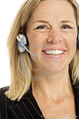 Free Businesswoman With Headset Royalty Free Stock Photography - 2386107