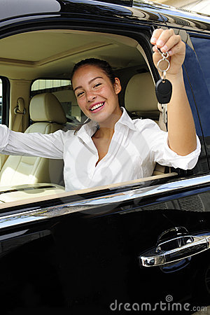 Free Businesswoman With Keys Of New Her Car Royalty Free Stock Photography - 14396117