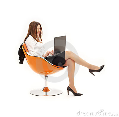 Free Businesswoman With Laptop In O Stock Photo - 2641690