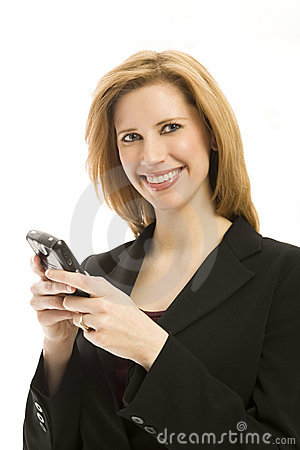 Free Businesswoman With Phone Royalty Free Stock Photos - 2385918