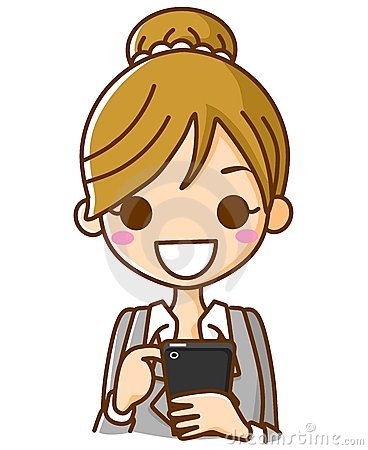 Businesswoman Working the phones