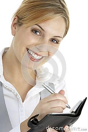Free Businesswoman Writing In Diary Stock Photo - 12406840