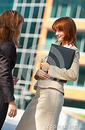 Businesswomen Chat
