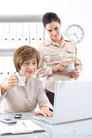 Businesswomen with coffee