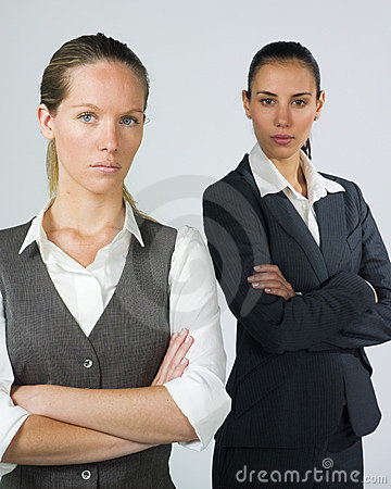 Businesswomen with crossed arms