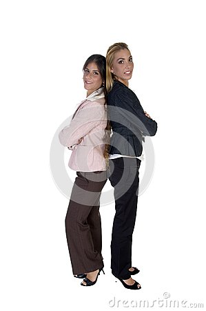 Businesswomen with folded hands