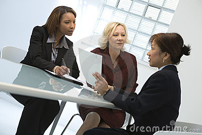 Businesswomen at meeting