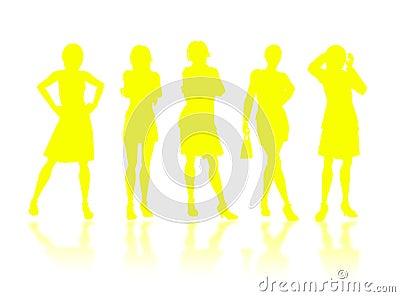 Businesswomen silhouettes