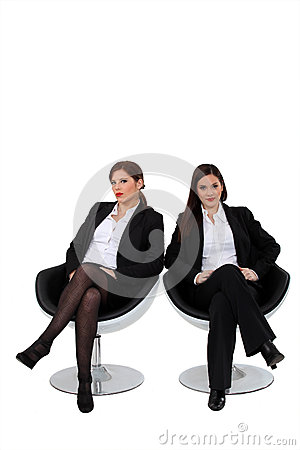 Free Businesswomen Sitting Together Stock Images - 37038814