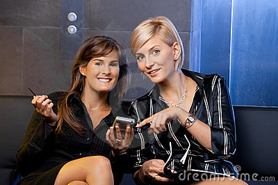 Businesswomen with smart phone