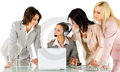 Businesswomen working