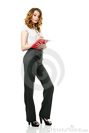 Busineswoman and notepad