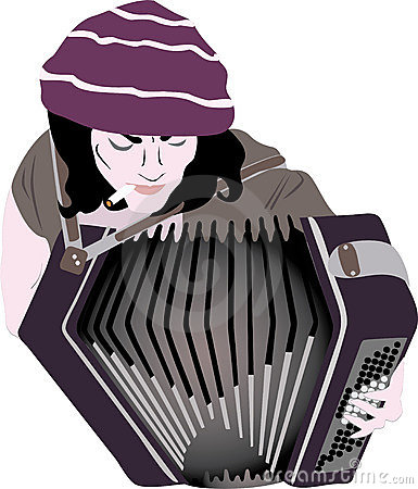 Busker - accordion