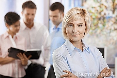 Busnesswoman in office