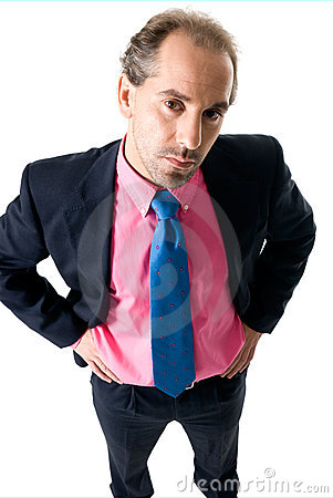 Bussines man wearing pink shirt