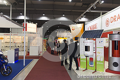 Bussinessman at AquaTherm 2012 in Prague Editorial Image