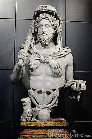 Bust of Commodus as Hercules Editorial Stock Image