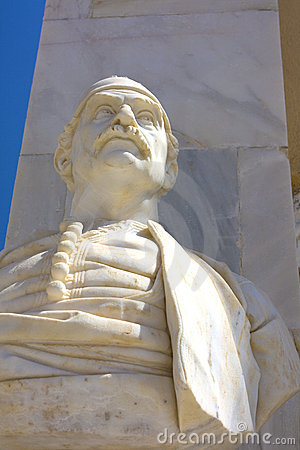 Bust of Greek Character at Hydra Island, Greece