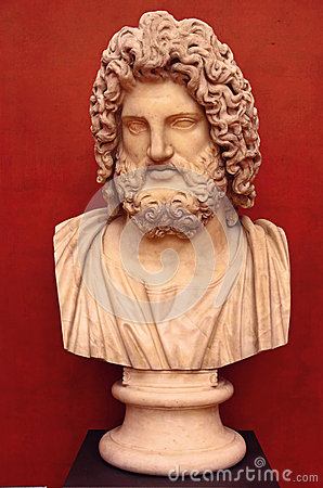 Bust of the greek god Zeus