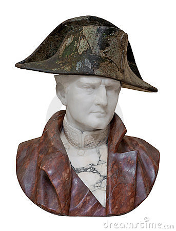 Bust of Napoleon isolated on white