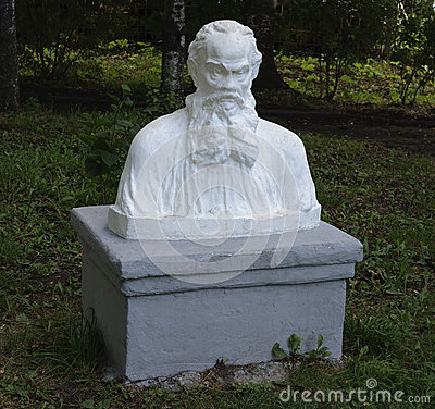 Free Bust Of Leo Tolstoy In Park Stock Image - 40923511