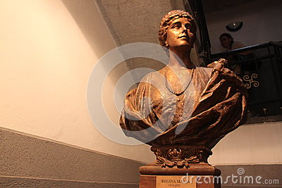 Bust of Queen Mary of Romania Editorial Image