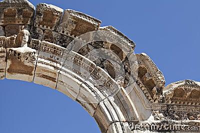 Busto dell arco del Hadrian, Ephesus