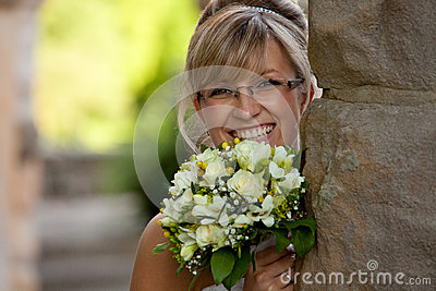 Busty bride nice glasses