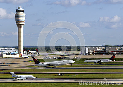 Busy airport Editorial Image