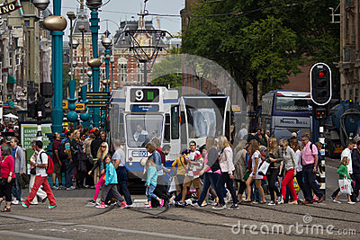 Busy Amsterdam Editorial Image
